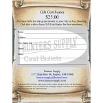 $ 25.00 Gift Certificate