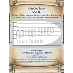 $ 50.00 Gift Certificate